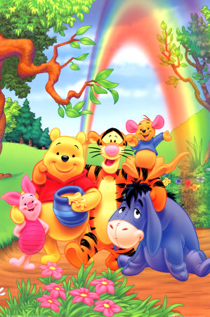 Pooh, Tigger, Piglet, Eeyore and Roo...